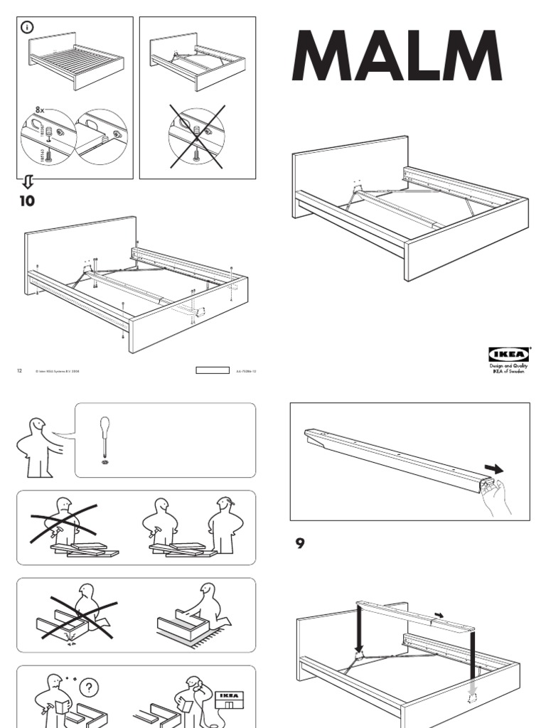 ikea malm bed instructions 2008