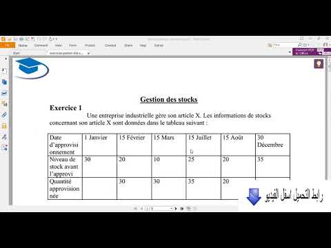 Methode de gestion de stock pdf