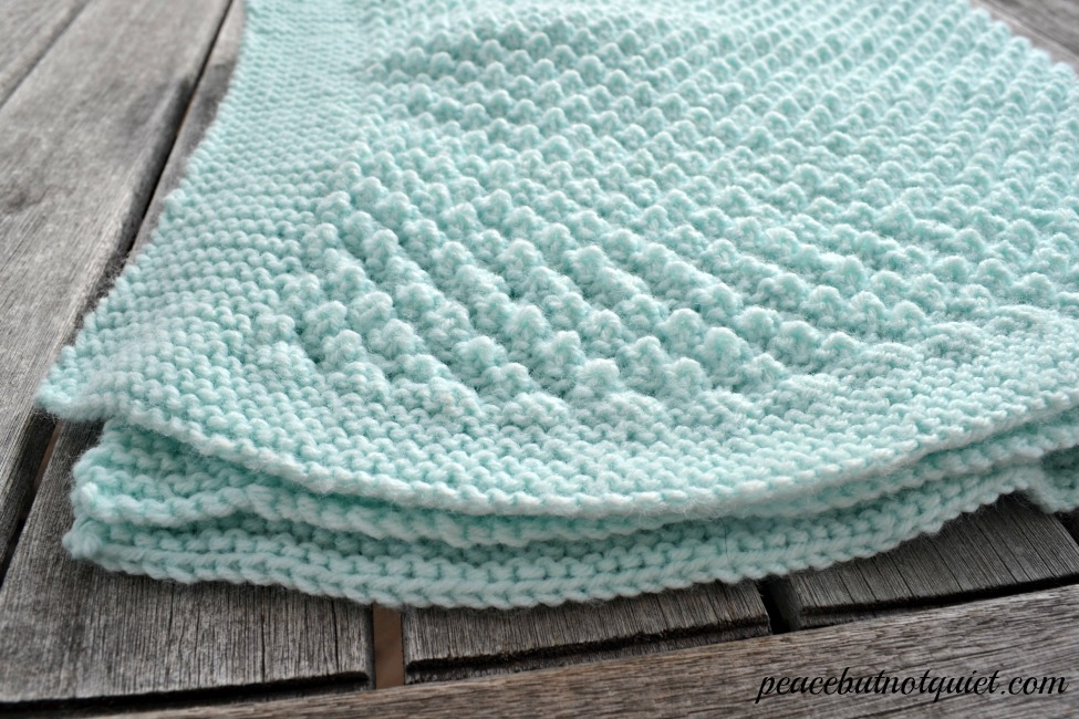 knitting instructions for baby blanket