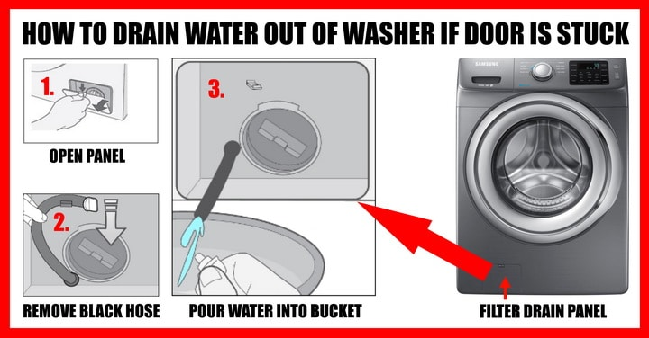 how to drain water from samsung washing machine manually