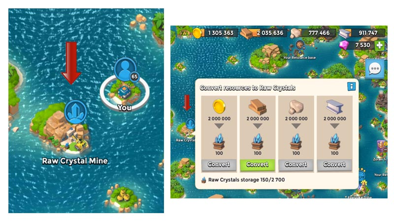 Boom beach how to get crystals