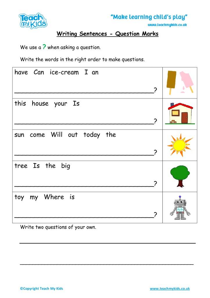 Writing simple sentences worksheets pdf