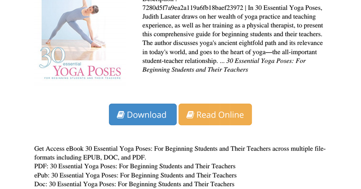 30 essential yoga poses pdf