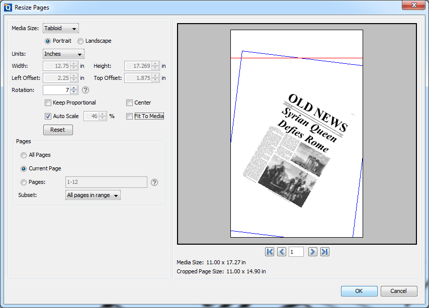Resize a pdf on acro