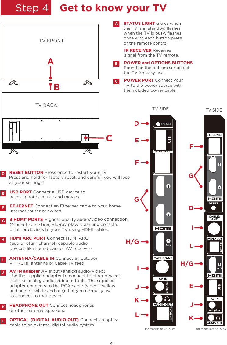 rtu6549 rca 65 4k tv user manual
