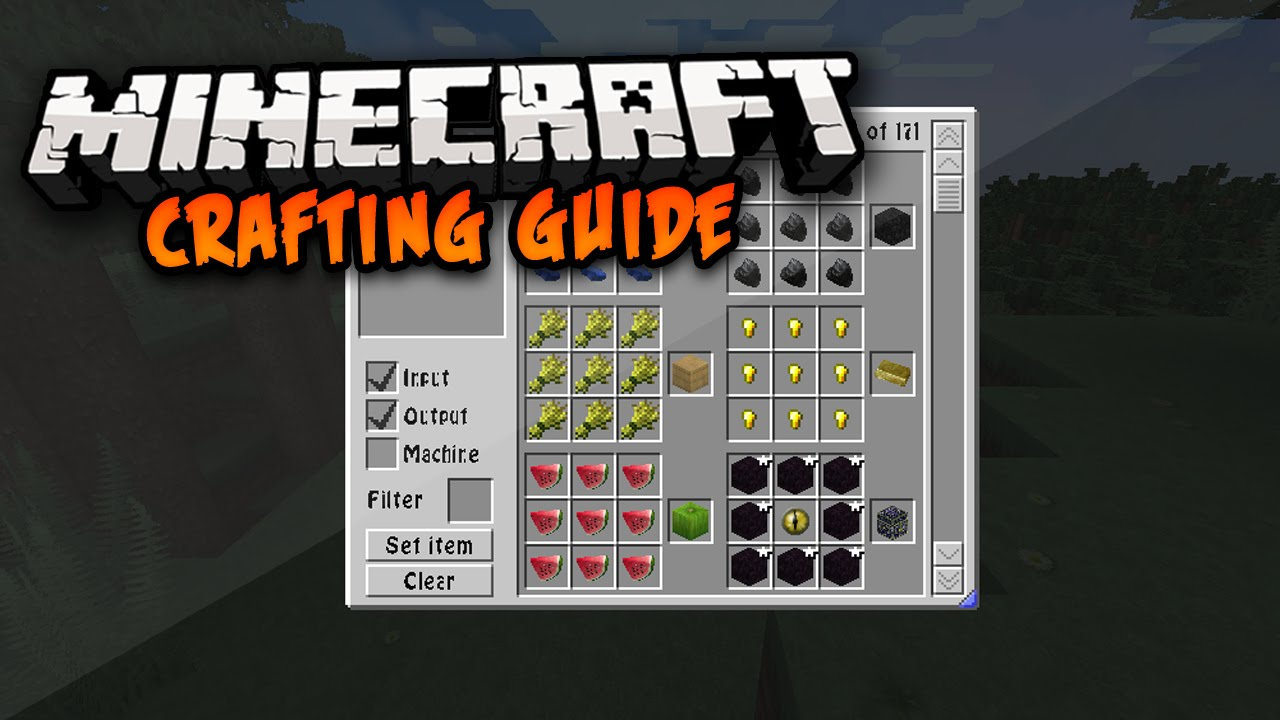 Minecraft crafting guide mod 1.8