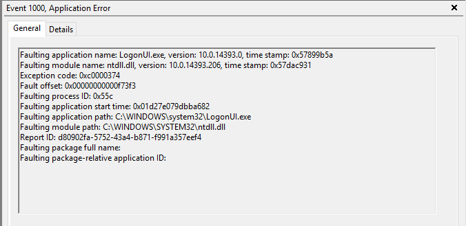 Faulting application name wmiapsrv.exe