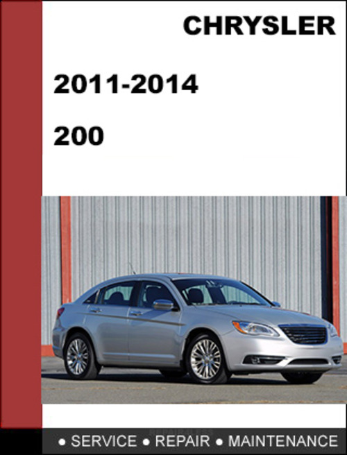 chrysler 200 fuse service manual