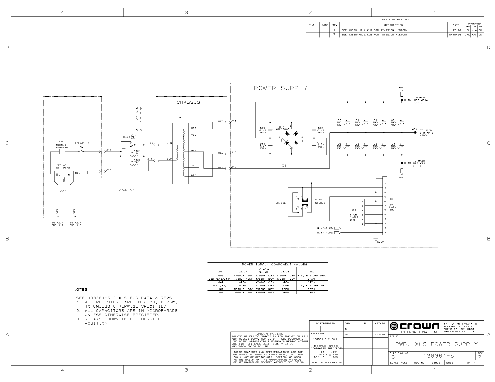 crown xti 4002 user manual