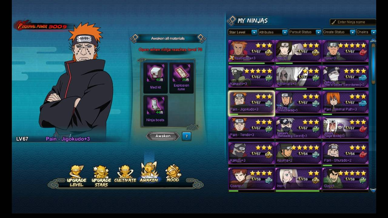 Naruto online how to get cultivation runes