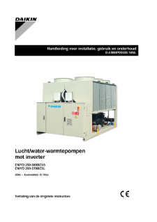 manual for installation and operation daikin applied chiller wgs