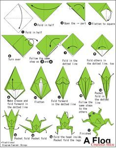 origami frog printable instructions