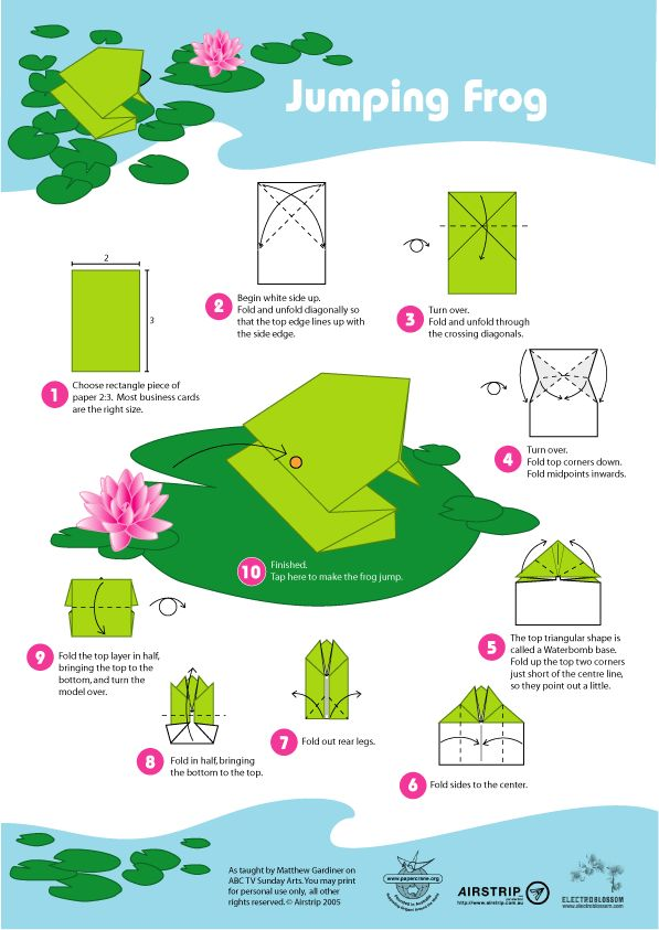 How To Make Frog Origami , Easy making 5 minutes – Origami Paper Arts | 843x597