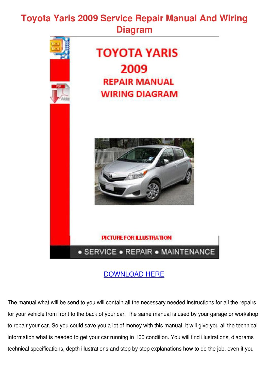 toyota yaris service manual pdf